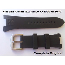 Pulseira Armani Ax1042 Preta P/ Exchange Ax1040 Adp Ax1050