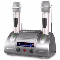 Microfone Sem Fio Duplo Recarregável Vhf Powerpack Wmv-5801