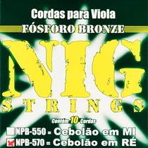 Encordoamento Nig Para Viola Cebolao Ré - Cordas Npb570