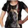 Camiseta Cachorro Pastor Malinois Feminina