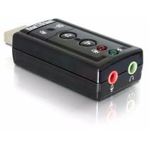 Placa De Som Externa Usb 7.1 Virtual Adaptador Áudio Pc T11