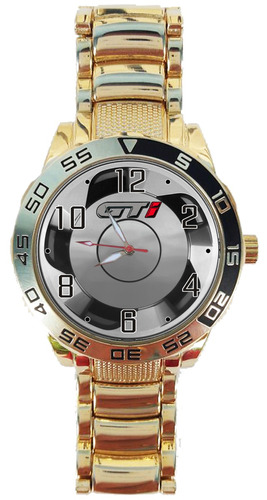 48cfaf20115 Relógio Pulso Volkswagen Golf Gol Gti Roda Orbital Dourado. Preço  R  119 99  Veja MercadoLibre