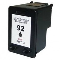 Cartucho Compatível 92 Black Hp P 5440 7850 1510 6210 C3180