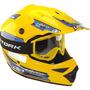 Capacete Bicross Mx Pro Tork Amarelo Tamanho 60 Com Viseira
