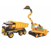 Novo Combo Brinquedos Xalingo Caçamba + Escavadeira