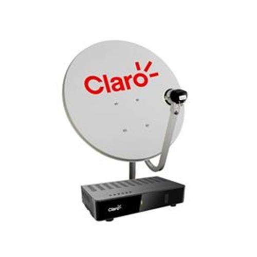 Claro Tv Pré - pago Com 1 Receptor Digital+antena 60cm