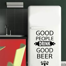 Adesivo Parede Geladeira Frase Cerveja Good Beer - Brindesi9