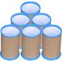 50 Porta Lápis, Porta Caneta Para Personalizar, Azul Celeste