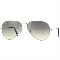 Óculos De Grau Ray Ban Aviator Unissex Gradient Light Gray