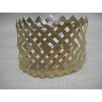 Bracelete Pulseira Dourado Fosco - Regulável