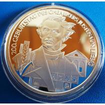 Alemanha-moeda Prata-2003-10 Euros-justus Von Liebig