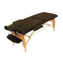 Mesa De Massagem Divã- Cama Maca Portátil -cor Preta- Lupa