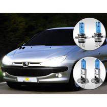 Lâmpada Super Branca Peugeot 206 98 99 00 Alta Baixa Milha