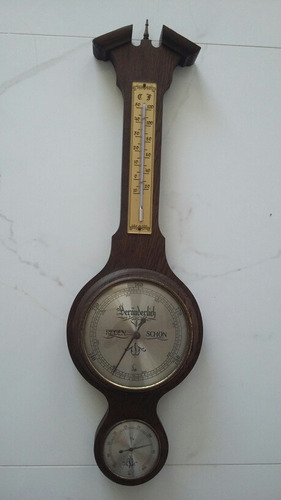 678b12b750b Barometro Alemão Lufft Termômetro Antigo