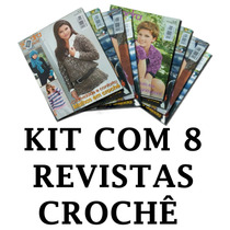 Kit Lote Com 8 Revistas Crochê