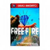 Free Fire Garena Freefire 671 Diamantes Recarga Na Conta