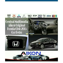 Central Multimídia Aikon Original Honda Civic 2012 A 2015