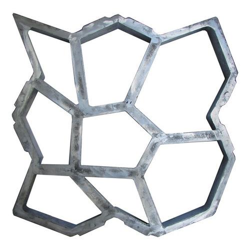 Forma Piso De Concreto Mosaico Lajota Jardim Paver 50x50x6