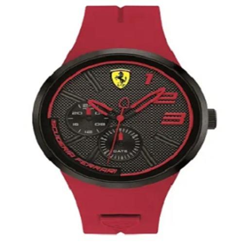 ff21b618b4f Relógio Scuderia Ferrari Masculino Borracha Vermelha - 83039