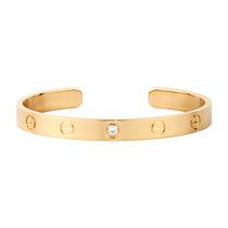 Bracelete Modelo Cartier Em Ouro 18k E Diamante - Cwb Joias