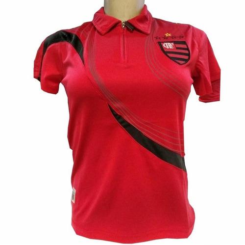 Blusa Do Flamengo Polo Passeio Camisa Oficial Shirt Feminina f342bb4b31474
