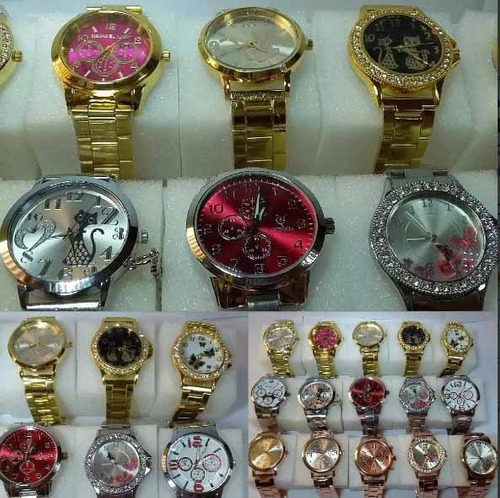 8fc461aad Promoção Relógio Feminino Lote C/ 6pcs Atacado P/ Revend