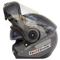 Capacete Norisk Ff370 Midnight Escamoteável Robocop C/óculos