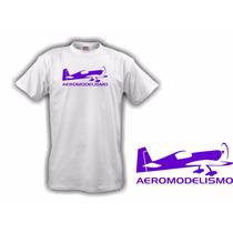 Camiseta Aeromodelismo Roxa - Hobbie Brasil