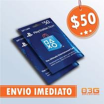 Playstation Network Card 50 Cartão Psn P/ Compras Na Store