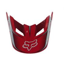 Visor (pala) Capacete Fox V1 Race - Vermelho - Tamanho Pp/p
