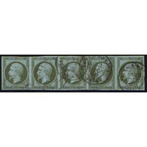 Col 07818 França 11 Napoleão Tira De 5 Selos Muito Rara U