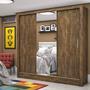 Guarda Roupa Casal 3 Portas Com Espelho Santiago Plus Fe