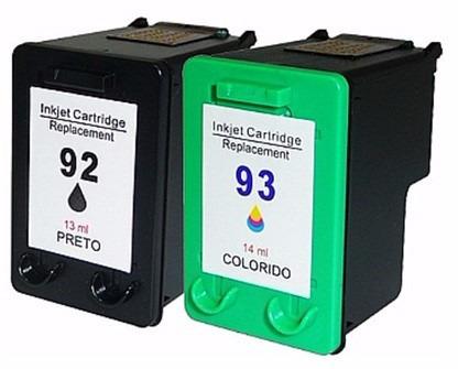 Par De Cartucho Novo 92 93 P/ Impressoras 1510 C3180 C4180