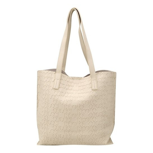 c272c99df Bolsa Colcci Shopper Croco Tachas Feminina - Off White