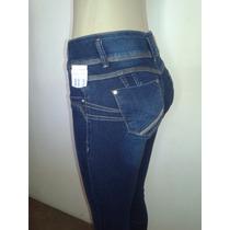 Calça Jeans Legging Feminina Sawary Elastano, Strass Leg
