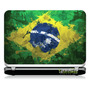 # 15 Adesivo Notebook Bandeira Brasil Pintura (15,4
