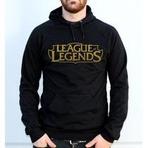 Blusa Moletom League Of Legends Canguru Com Capuz