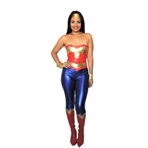 Fantasia Mulher Maravilha Corset Sexy Liga Da Justiça