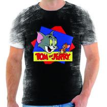 Camiseta Do Tom E Jerry,desenho Animado,estampada 2