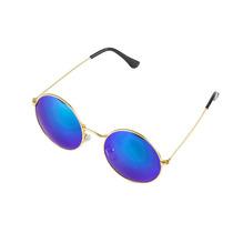 Óculos De Sol John Lennon Redondo Lente Espelhada Azul