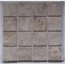 Mosaico De Mármore Travertino Anticato - Pastilhas De 7x7