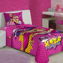 Jogo De Lençol Infantil Solteiro Barbie Super Princesa 02 Pe