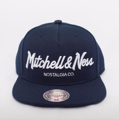 fc91311da337c Boné Mitchell   Ness Aba Reta Azul Marinho Nostaliga
