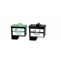 Kit Cartucho Compativel Lexmark 16/17 Preto + 26/27 Color