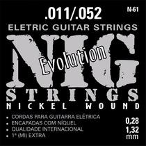 Encordoamento Para Guitarra Cordas Nig N61 011
