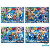 Kit Cartela 4 Bonecos Dragon Ball Z Sortido Goku Vegeta A221