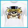 Camiseta Guns N Roses Caveira, Bandas, Rock, Musica, Logo