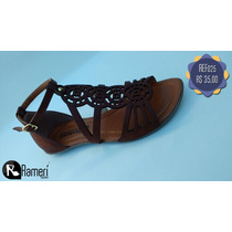 Sandália Rasteira - Ramerí Calçados Nº 33 A Nº 39 Ref025