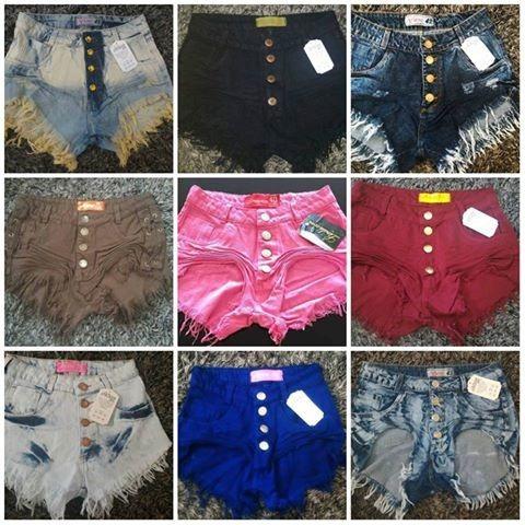 59f8dd1c0 Kit 2 Shorts Jeans Feminino Cintura Alta Hot Pants Modelos à venda ...