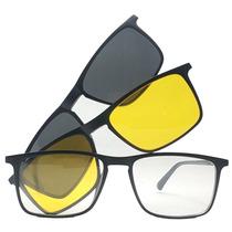 699c57b68 Armação De Óculos Clip On Polarizado E Night Driver Promoção